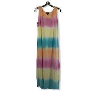 Juli Pastel Tie Dye Maxi Dress sz L *EUC*
